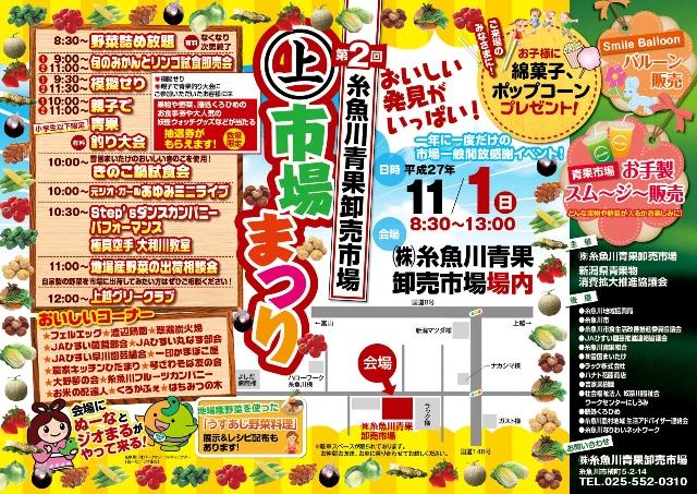 第2回 糸魚川青果 ㊤市場まつり